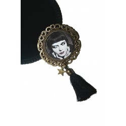BROCHE CABOCHON RONDE LOUISE BROOKS DECIDELÀ